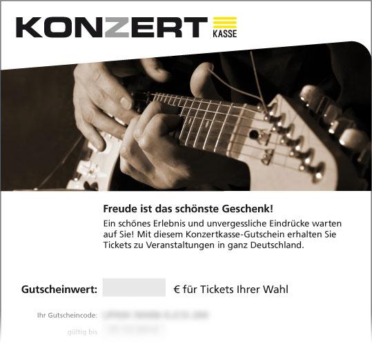 Gutschein, Motiv: Gitarre