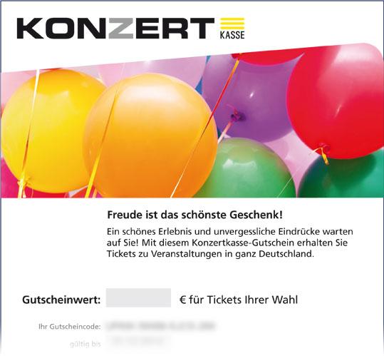 Gutschein; Motiv: Luftballons