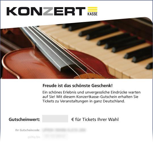 Online-Gutschein, Motiv: Geige