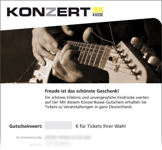 Online-Gutschein, Motiv: Gitarre