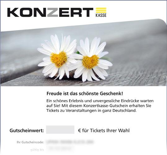 Online-Gutschein, Motiv: Margeriten