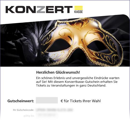 Online-Gutschein, Motiv: Theatermaske