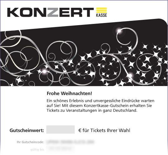 """Online-Gutschein, Motiv: Weihnachten """"Sternchen auf Schwarz"""""""