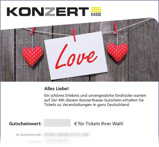 Online-Gutschein, Motiv: LOVE