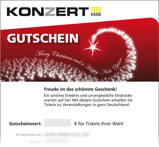 """Gutschein, Motiv: Weihnachten """"Sternschnuppe"""""""