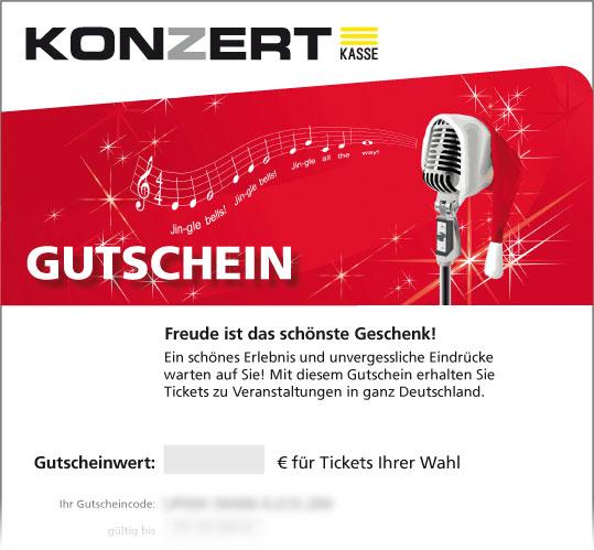 """Gutschein, Motiv: Weihnachten """"Mikrofon"""""""