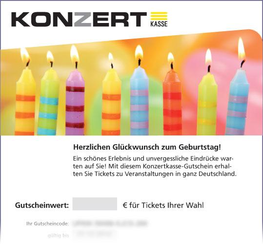 Gutschein, Motiv: Geburtstagskerzen
