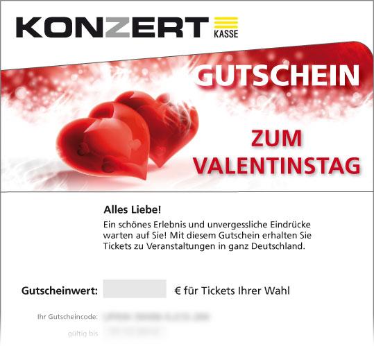 """Gutschein; Motiv: Valentinstag """"Herz"""""""