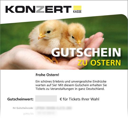 Online-Gutschein, Motiv: Osterküken