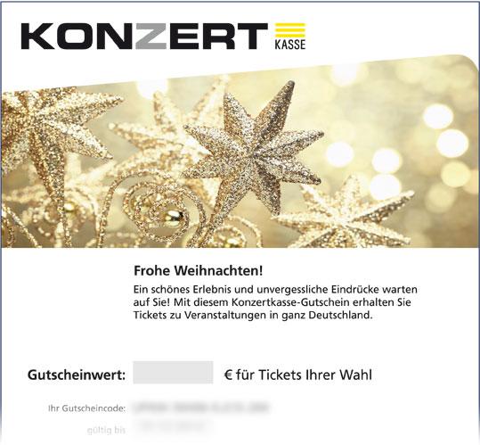 """Online-Gutschein, Motiv: Weihnachten """"Goldene Sterne"""""""