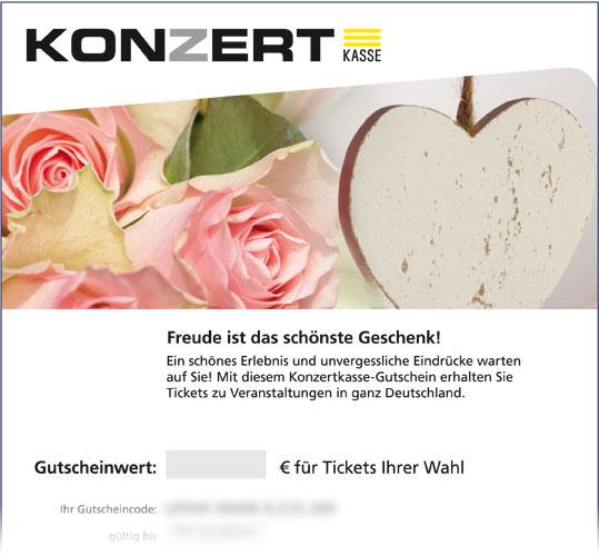 Online-Gutschein, Motiv: Herz & Rose