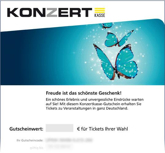 Online-Gutschein, Motiv: Schmetterling