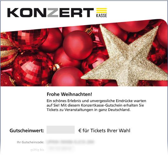 """Online-Gutschein, Motiv: Weihnachten """"Christbaumkugeln"""""""