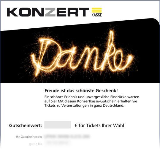 Online-Gutschein, Motiv: Danke!