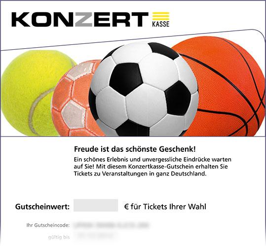 Gutschein, Motiv: Ballsport