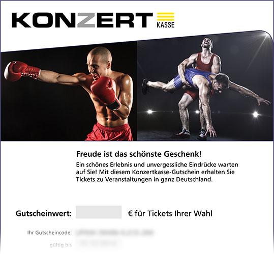 Gutschein, Motiv: Boxen, Wrestling