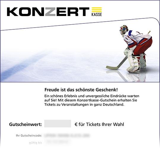 Online-Gutschein, Motiv: Eishockey