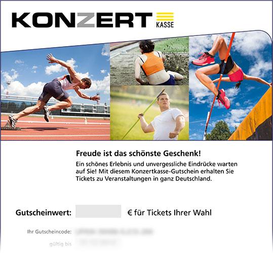 Online-Gutschein, Motiv: Leichtathletik
