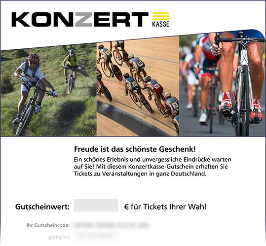 Gutschein, Motiv: Radsport