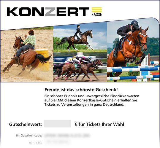 Online-Gutschein, Motiv: Reitsport