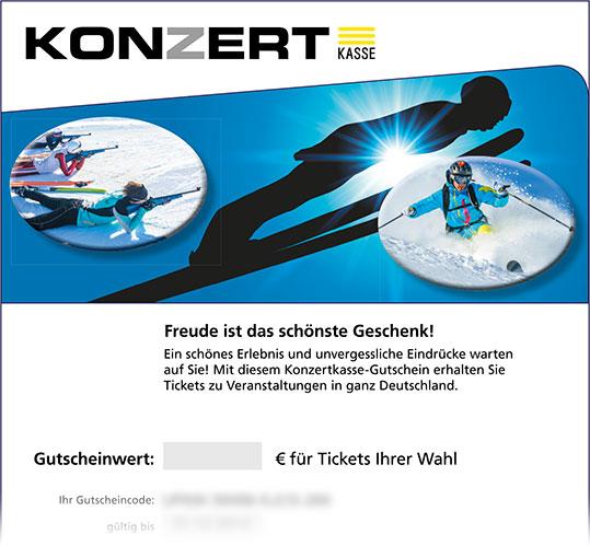 Gutschein, Motiv: Skisport