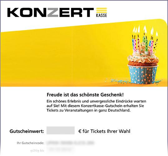 Gutschein, Motiv: Geburtstag