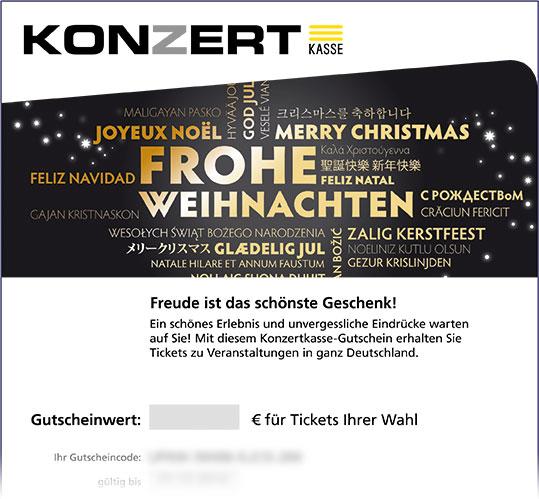 Gutschein, Motiv: Weihnachten I