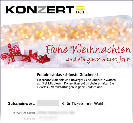Gutschein, Motiv: Weihnachten II