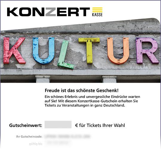 Online-Gutschein, Motiv: Kultur