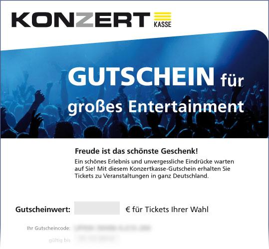 Online-Gutschein, Motiv: Großes Entertainment